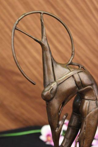 Bronzeskulptur Abstrakt Marina Mitte Des Jahrhunderts Modern Surreal Bild
