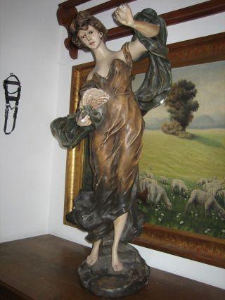 Riesige Jugendstil - Dame,  Um 1900 Bild