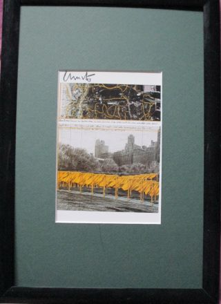 Christo The Gates York Handsigniert,  Rahmen,  Orig.  Signed,  Berlin Bild