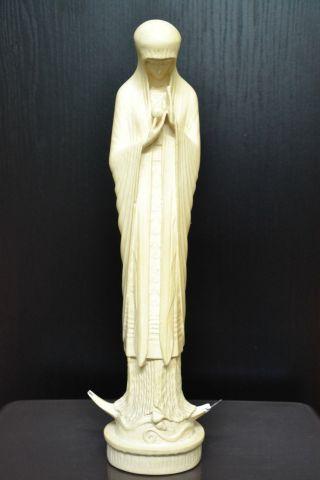 Hl.  Maria - Madonna Mit Jesuskind Beuron Ca.  1920 - Jugendstil Größe = Ca.  36cm Bild