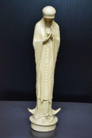 Hl.  Maria - Madonna Mit Jesuskind Beuron Ca.  1920 - Jugendstil Größe = Ca.  26cm Bild
