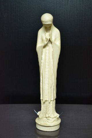 Hl.  Maria - Madonna Mit Jesuskind Beuron Ca.  1920 - Jugendstil Größe = Ca.  27cm Bild