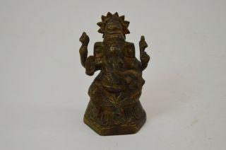 Antike Bronze - Figur,  Skulptur,  Ganesha Mit Sonnenscheibe,  Indien Um 1850 - 70 Bild