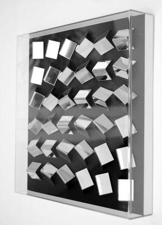 Wandobjekt,  Konkrete Kunst,  Op Art,  Kunststoff,  Handsigniert,  H.  Heinecke,  D24 Bild