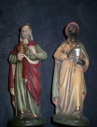 Friedel:alter Großer König Und Großer Mohr - - Beides Handbemalt Und Aus Keramik Bild