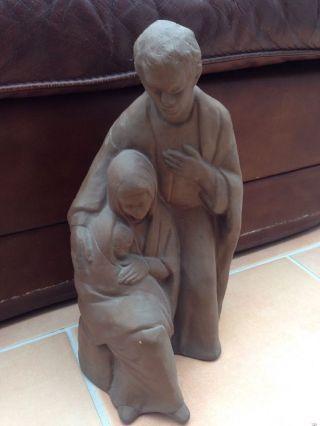 Helmut Bourger Heilige Familie Skulptur Handsigniert Krippe Top Bild