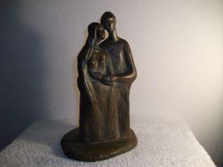 Figur - Monogrammiert - Ml - Maren Lipp? - Bronzierte Keramik Bild