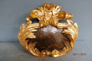 Supraporte,  Schnitzteil,  Kartusche,  Ornament Aus Holz Um 1750 Bild