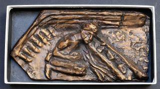 Tisa Von Der Schulenburg Dorsten Bergbau Bronze - Relief 1988 Nr.  47 Bild