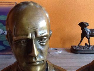Italien 2 Bronzefiguren,  Büsten,  Buchstützen Benito Mussolini Bild