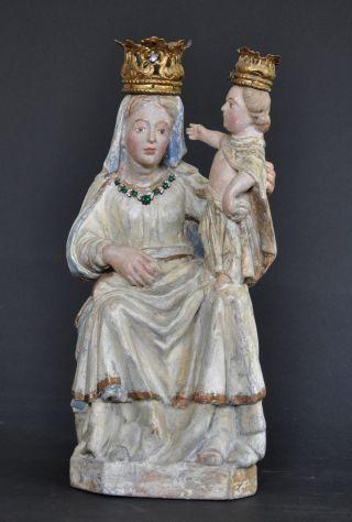Ettaler Madonna,  Ca.  1780 - 1800,  Linde Geschnitzt,  Alte Fassung Restauriert Bild