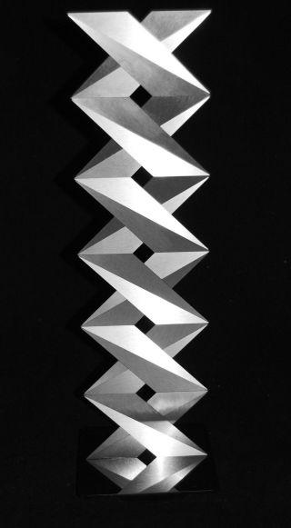 Op Art,  Objekt,  Konkrete Kunst,  Edelstahl,  Acrylglas,  Handsigniert,  H.  Heinecke,  D23 Bild