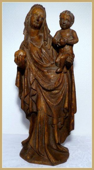 Große Madonna - Maria Mit Kind - 45 Cm Bild