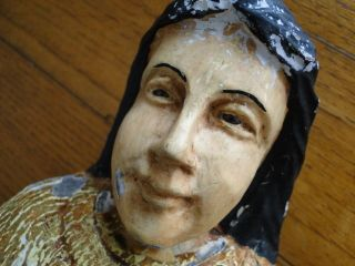 Große Heiligenskulptur Spanien Mit Glasaugen.  Um 1800 Bild