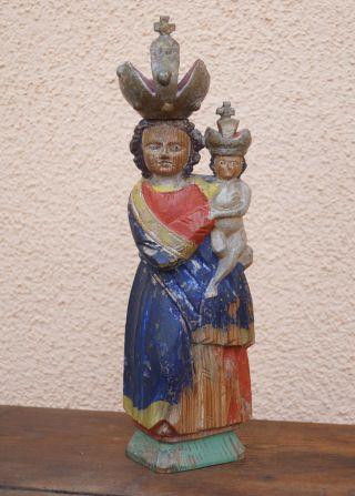Böhmische Madonna - Pribram 19.  Jahrhundert - Holz Geschnitzt (3702) Bild