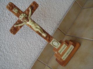 Altes Originales Sehr Schönes Kreuz Mit Einer Aufschrift Und Unbeschädigt Bild