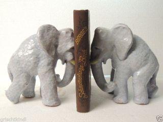 1 Paar Grosse Wunderschöne Keramikelefanten