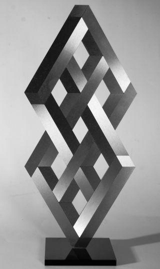 Op Art,  Objekt,  Konkrete Kunst,  Edelstahl,  Acrylglas,  Handsigniert,  H.  Heinecke,  D14 Bild