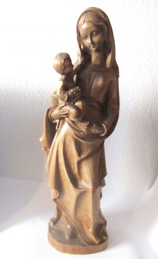 Große Originale Holzschnitzerei Aus Tirol 53cm Maria Mit Kind Skulptur Holzfigur Bild