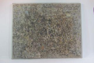 Hermann Ober (1920 - 1997),  Seltenes Relief,  Stuck,  Holz,  Gefasst,  Patiniert,  Um 1950 Bild