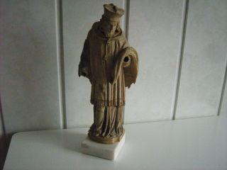 Alte Holzfigur Um 1800 - Hl.  Nepomuk Bild