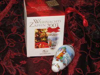 Hutschenreuther Weihnachtszapfen 2003,  Zapfen,  Weihnachten,  Ovp,  Und Weitere Bild