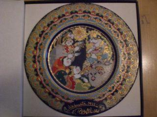 Rosenthal Weihnachtsteller 1977 Björn Wiinblad Ovp Bild