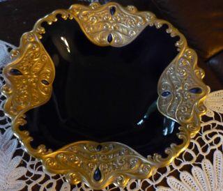 Imenau Porzellan - Prunkvolle Schale - Reichlich Mit Gold Ausstaffiert Bild