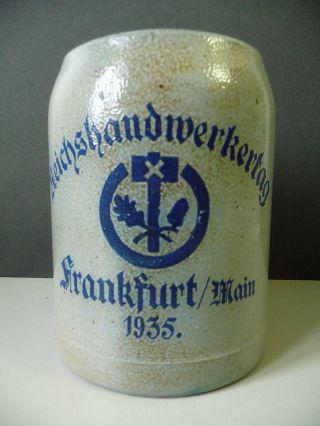 Bierkrug Humpen Krug Reichshandwerkertag Frankfurt 1935 Bild