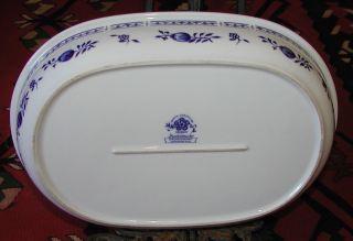 6) Triptis Porzellan Zwiebelmuster 1 Neuwertige Große Auflaufform 34,  5 Cm Bild