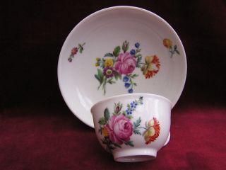 Tasse Kurfürstliche Manufaktur Frankenthal Blumen Malerei Um 1770 Bild