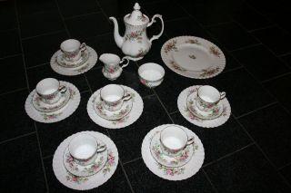 Kaffeeservice Royal Albert Moss Rose 22 Teilig - 6 Personen Bild