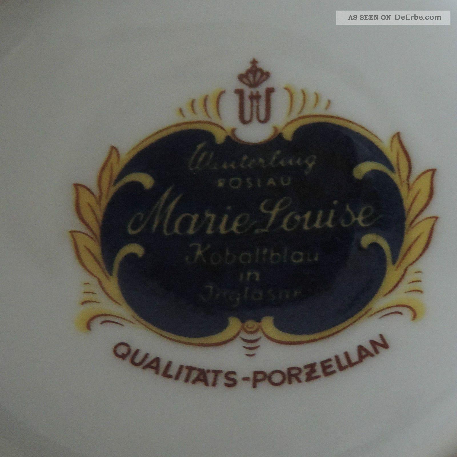 Winterling Marie Louise Kobaltblau Zuckerdose Mit Deckel  ~ Geschirr Kobaltblau Mit Goldrand