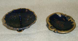 Kobalt Kerzenständer & Schale Bild