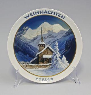 Entwurf Heinrich Fink Weihnachtsteller Rosenthal 1934 9985930 Bild