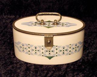 Antike Keksdose,  Gebäckdose,  Jugendstil,  Metallmontierung Bild