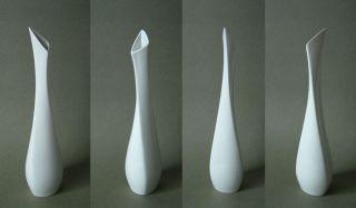 Sgrafo Modern Vase Assymetrisch 33,  3cm Porzellan Stangl Kuhn 50ties Wohlrab ära Bild