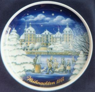 Weihnachten 1997 Sammelteller Königl.  Pr.  Tettau Schloß Moritzburg 26.  Ausgabe Bild