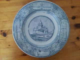 Großer Keramikteller Russland Ansichten Von St.  Petersburg Bild