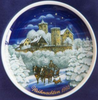 Weihnachten 1992 Sammelteller Königl.  Pr.  Tettau Wartburg Eisenach 21.  Ausgabe Bild