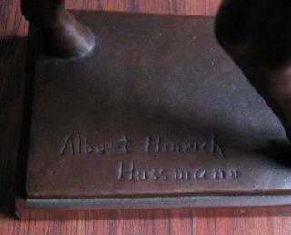 Skulptur Von Albert Hinrich Hussmann Pferd Stehend Signiert Bronze,  Rar Bild
