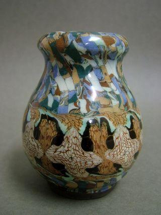 Jean Gerbino Vallauris Mosaik Vase 3.  Vase 1950 France Capron Ära Art Ceramic Bild