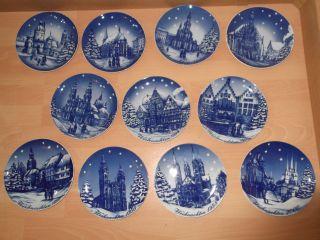 11 Stück Sammel Weihnachtsteller Von Winterling Marktleuthen Bavaria 1989 - 2000 Bild