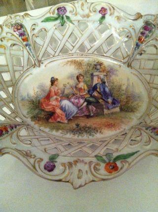 Dresden Zierschale Potschappel Schale Sehr Alt Bild