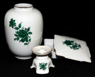 Augarten Wien Porzellan - Vase,  - Dose & KerzenstÄnder,  Maria Theresia Dekor 5098 Bild