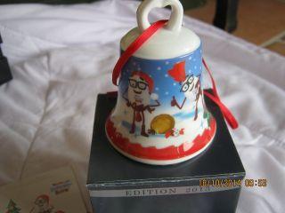 4 Weihnachtsglocken Höchster Porzellan Manufaktur,  Edition 2013 Bild