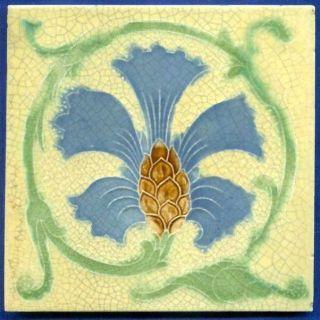 Jugendstil Fliese Kachel,  Art Nouveau Tile,  T.  R.  Boote,  Kornblume - Cornflower Bild