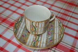 Alte Porzellan Tasse Und Untertasse Manufacture Sevres V.  1770 - 1790.  RaritÄt Bild