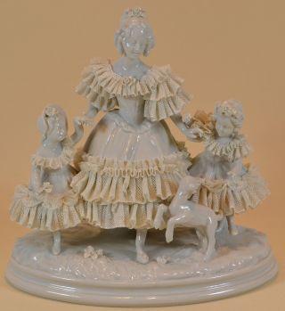 Porzellanfigur Einer Mutter Mit Tochter Porcelain Figurine Mother Daughters Bild