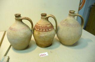 Nr.  1744.  3.  Alte Tonflaschen Keramik Wasserflaschen Deko Flaschen Bild